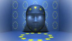Europe - Head - Animation - stock footage