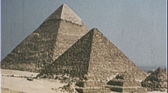 PYRAMIDS of Egypt Giza Egyptian 1980s Vintage Film Home Movie 7391 - stock footage