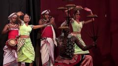 Kandyan Traditional Dance Performance. Kandy, Sri Lanka. Stock Footage