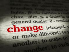 Stock Illustration of Dictionary - Change - Red On BG
