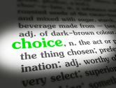 Stock Illustration of Dictionary - Choice - Green On White