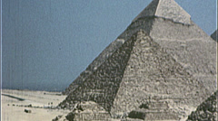 GREAT PYRAMIDS of Egypt Giza Egyptian 1980s Vintage Film Home Movie 7394 - stock footage