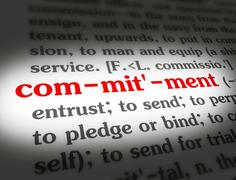 Dictionary - Commitment - Red On White Stock Illustration