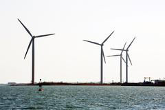 Wind mills on the dimension of fos-sur-mer Stock Photos