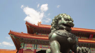 Stock Video Footage of The Imperial Lion in Forbidden City, Beijing, China