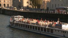 Waterbus in Berlin Stock Footage