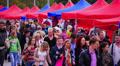 Crowd on weekend fair. HD Footage