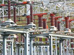Sähkökytkimiä merkittävän sähkön voimalaitos Kuvituskuvat