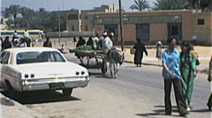 Outskirts CAIRO EGYPT Street Scene 1970s Vintage 8mm Film Home Movie 7404 Stock Footage