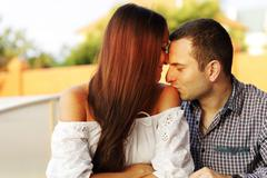Stock Photo of lovely young romantic couple