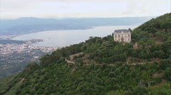 Aerial corsica ajaccio castel punta Stock Footage