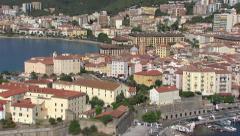 Aerial landscape ajaccio Stock Footage