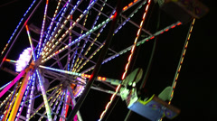 Ferris Wheel Running Pull Out Stock Footage