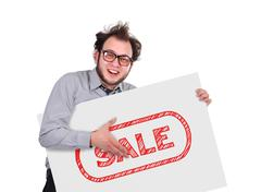 signboard with sale - stock photo