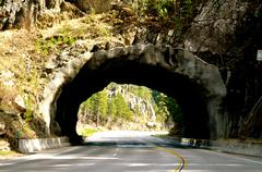 black hills tunnel - stock photo