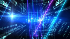 Abstract technological bsckground Stock Footage