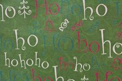 Christmas ho ho ho background horizontal Stock Photos