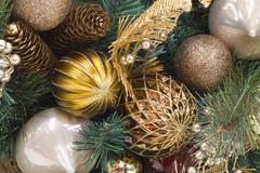 Stock Photo of christmas pinecone wreath