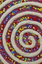 Stock Photo of colorful swirly christmas decor