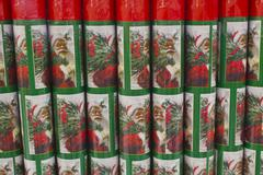 christmas wrapping paper - stock photo