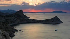 Timelapse sunrise in the mountains. Noviy Svet, Crimea, Ukraine Stock Footage