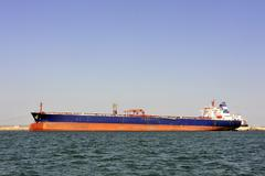 Stock Photo of quay tanker to discharge