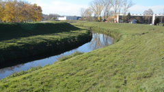 Grass and water canal Stock Footage