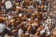 Stock Photo of broken brick background