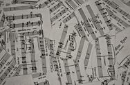 Stock Photo of torn music sheets