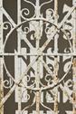 Stock Photo of rusted mausoleum gate