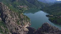 Aerial corsica lake Stock Footage