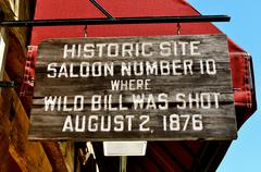 deadwood saloon 10 sign - stock photo