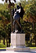 Confederate defenders statue Stock Photos