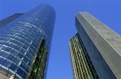 Skyscrapers in Frankfurt - stock photo