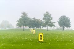 Driving range - stock photo