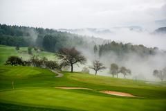 Autumn on the golf course - stock photo