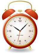 Old style clock Stock Illustration