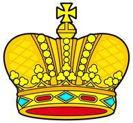 Royal crown - stock illustration