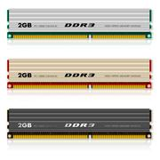 Set of DDR3 memory modules - stock illustration