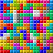Colorful Tetris board background Stock Illustration