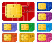 SIM cards - stock illustration
