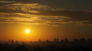 Stock Video Footage of Sunrise or Sunset - City View