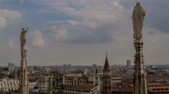 Milano skyline duomo 4K Stock Footage