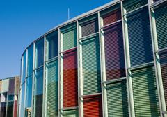 Colourful glass facade Stock Photos