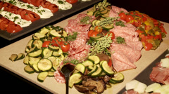 Antipasti Stock Footage