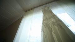 Wedding Dress - stock footage