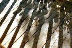 Deck and shadows Stock Photos