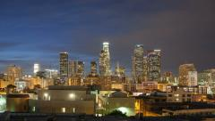 LA Skyline Timelapse - stock footage