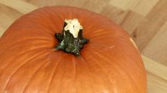 Cutting a Pumpkin Stock Footage