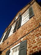 Charleston sc puolella tiilitalo näkökulmasta Kuvituskuvat